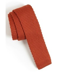1901 Skinny Knit Tie Cognac Regular
