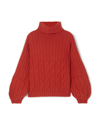 Johanna Ortiz Cuentos Del Caribe Cable Knit Cashmere Turtleneck Sweater