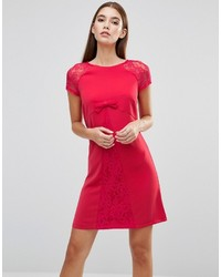 Bow front lace sleeve dress medium 924027