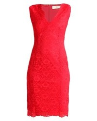 Wallis Scallop Cocktail Dress Party Dress Red