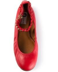 Lanvin Chain Strap Ballerinas