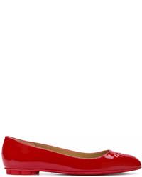 Salvatore Ferragamo Embossed Gancio Ballerina Shoes