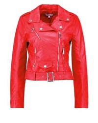 Gary faux leather jacket red medium 3993454