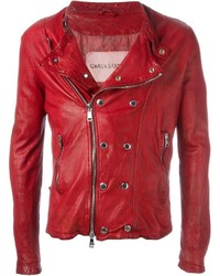 Giorgio Brato Snap And Zip Biker Jacket