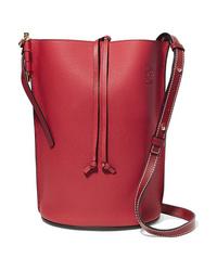 Loewe Gate Textured Leather Bucket Bag