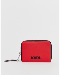 Karl Lagerfeld Logo Zip Purse