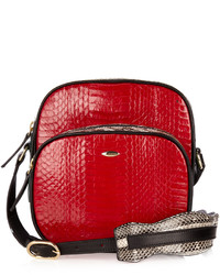 Fev By Francesca E Versace Bon Bon Snakeskin Cross Body Bag