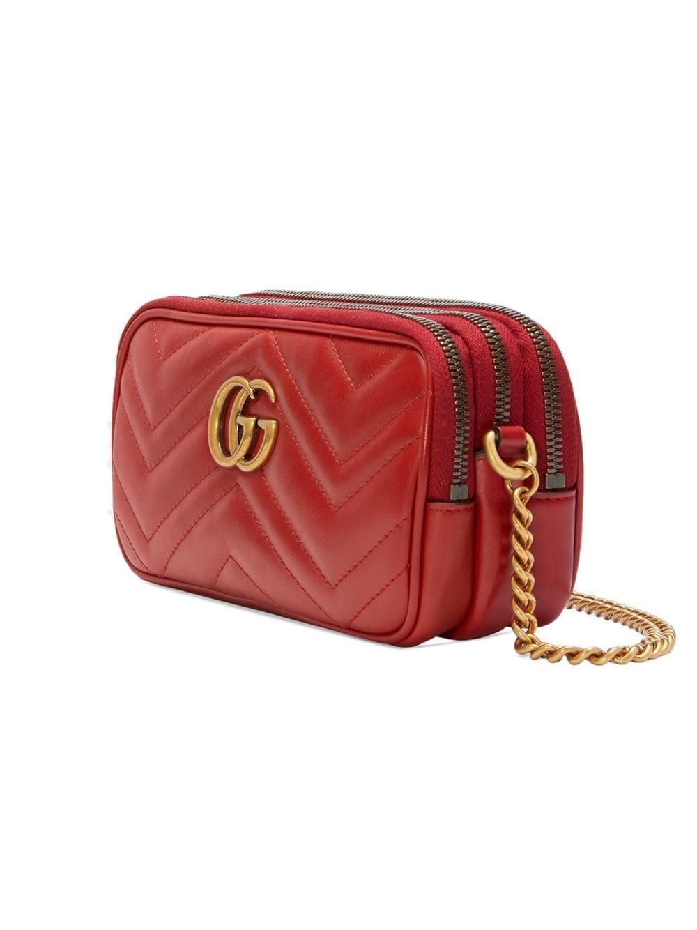 4127271f7 Gucci Gg Marmont Mini Chain Bag, £978 | farfetch.com | Lookastic UK
