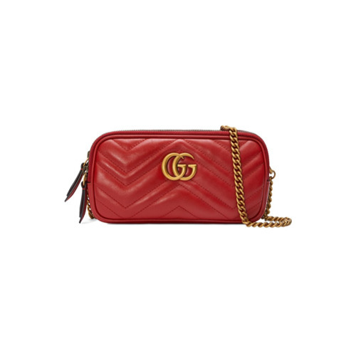 b18004e0b9f9e2 Gucci Gg Marmont Mini Chain Bag, £960 | farfetch.com | Lookastic UK