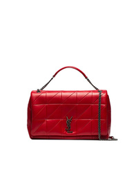 Saint Laurent Red Jamie Large Patchwork Leather Shoulder Bag