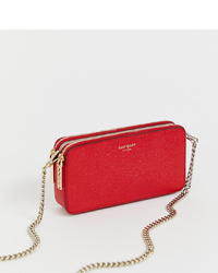 Kate Spade Red Leather Double Zip Mini Crossbody Camera Bag