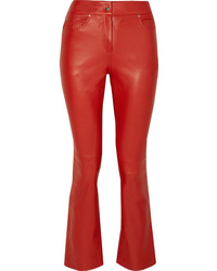 Stand Avery Cropped Leather Flared Pants