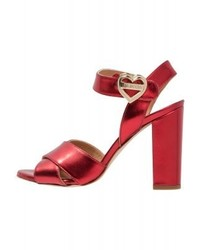 Moschino High Heeled Sandals Red