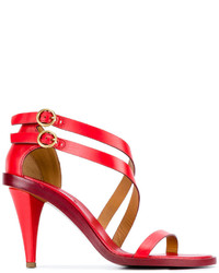Chloé Red Niko Heeled Sandals