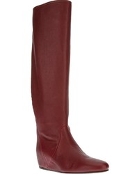 Knee high wedge boot medium 3887
