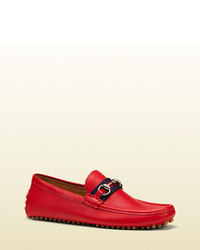 Red Leather Loafers
