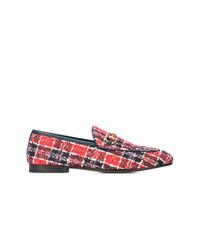 Gucci Jordaan Tweed Check Loafers