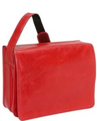 Red Leather Messenger Bag