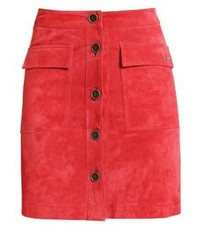Pepe Jeans Leslie Leather Skirt Spice