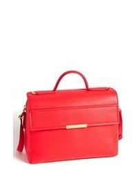Red Leather Satchel Bag