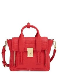 Mini pashli leather satchel red medium 350994