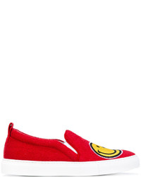 Joshua Sanders Smiley Face Slip On Sneakers