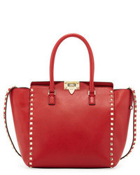 Red Leather Tote Bag