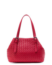 Bottega Veneta China Red Intrecciato Nappa Tote