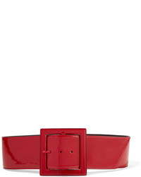 Saint Laurent Patent Leather Waist Belt Red