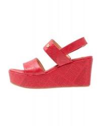 Moschino Platform Sandals Red