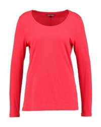 Tommy Hilfiger Jeana Scoop Neck Long Sleeved Top Red