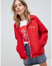 Tommy Hilfiger Coach Jacket With Scribble Logo