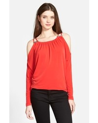 MICHAEL Michael Kors Michl Michl Kors Double Strap Cold Shoulder Top