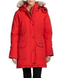 Canada Goose parka online store - Fj?ll R?ven Fjallraven Faux Fur Trimmed Lightweight Parka Red | Where
