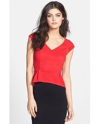 Red peplum top original 3995129