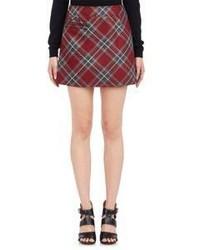 Red Plaid A-Line Skirt