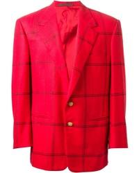 Versace Vintage Checked Blazer