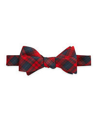 Red Plaid Bow-tie