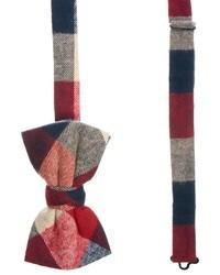 Asos Bow Tie In Check Redwhiteblue