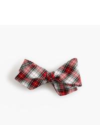 J.Crew Cotton Bow Tie In Tartan