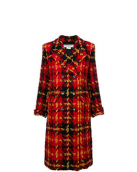Yves Saint Laurent Vintage Double Breasted Plaid Coat