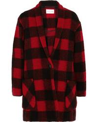 Etoile Isabel Marant Toile Isabel Marant Gabrie Plaid Wool Blend Coat