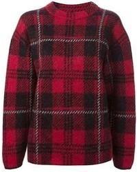 Check pattern sweater medium 71549