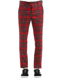 Red Plaid Dress Pants