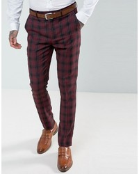 Harry brown skinny fit plaid suit pants medium 6860243