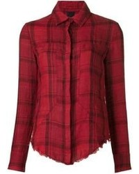 Red Plaid Dress Shirt