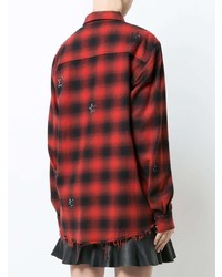 Amiri Crystal Checked Flannel Shirt