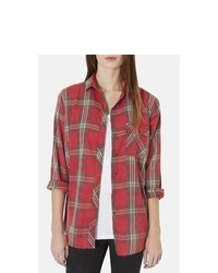 Topshop Marvin Plaid Shirt
