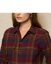 Ralph Lauren Blue Label Plaid Camp Shirt