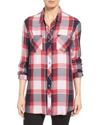Sandra Plaid Two Pocket Boyfriend Tunic